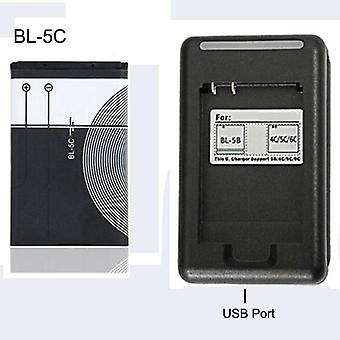 Replacement Battery Original Bl Rechargeable + Usb Charger For Nokia Mobile
