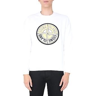 Stone Island 731563094v0001 Men's White Cotton Sweatshirt