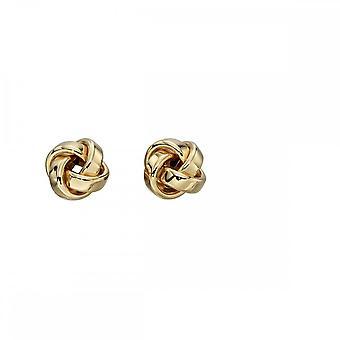 רכיבים זהב צהוב קשר זהב ומשובץ עגילים GE2201