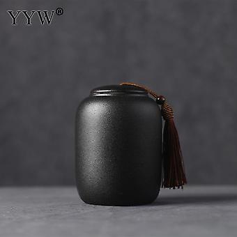 Schwarze Feuerbestattung Urnen für Haustier menschlichen Asche / Keramik Urne kleine Andenken/Funeral
