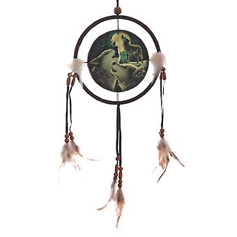 Decorative Fantasy Wolf Family Dreamcatcher Small