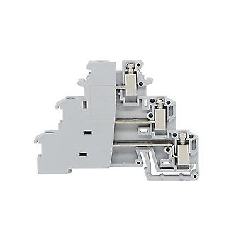 Din Rail Terminal Block, Terminator 10pcs Dikd-1.5  Three Layer And 3 Level