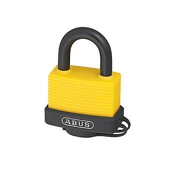 ABUS 70AL/45mm Cadeado de Alumínio Amarelo Chaveado 6401 ABUKA49969