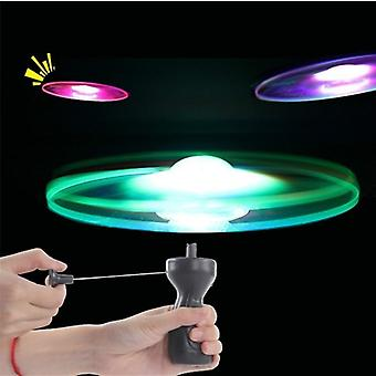 Funny Spinning Flyer Luminous Flying Ufo, Led Light Handle