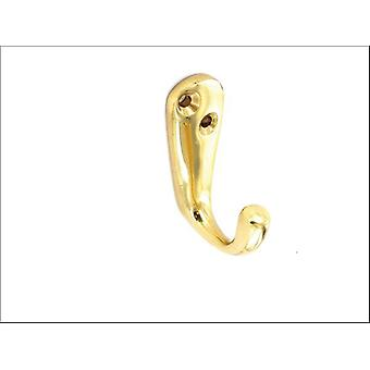 Securit Robe Hook Brass 50mm x 2 S2566