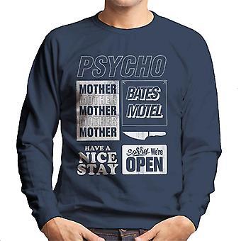 Psycho Classic Quotes Montage Men's Sweatshirt