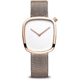 بيرينغ ساعة المرأة الكلاسيكية ارتفع الذهب لامعة 18034-364