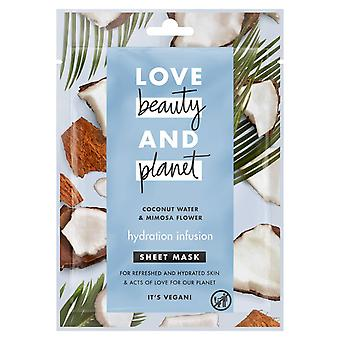 Love Beauty & Planet Sheet Mask for Revived and Soft Skin 1pc Hydration Infusion