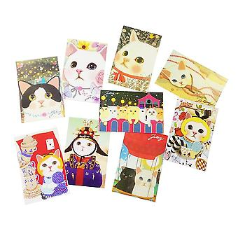 Kawaii Cartoon Cats Postcards, Group Card