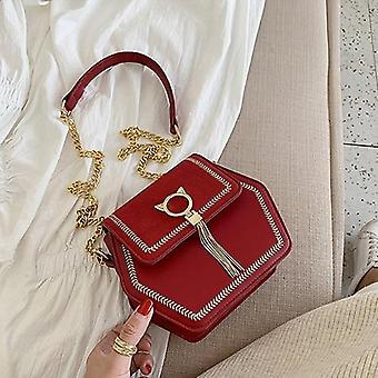 Femme à la mode Shoulderbag Pu / Frosted Polyester Luxury Leather Crossbody