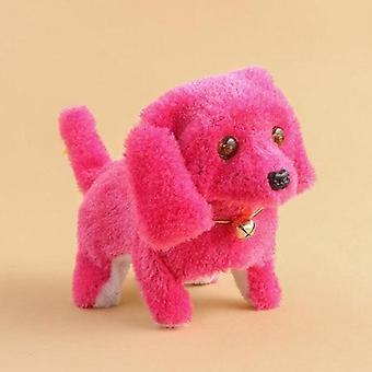 Jucărie electrică, Soft Plush de mers pe jos stralucitoare Barking Dog, Simulare Mutarea Potolise