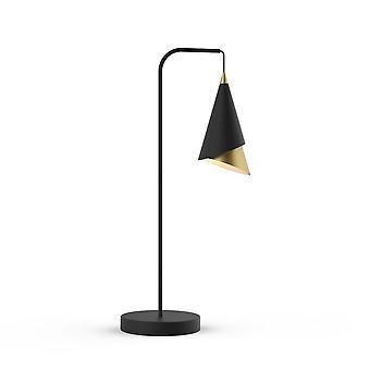 Lámpara de mesa LED moderna negro, oro, blanco cálido 3000K 234lm