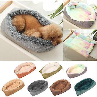 Le nouveau nid d'animaux de compagnie garde au chaud en automne hiver Super doux et confortable peluche double usage Cat Dog Nest Dog Bed Pet Supplies