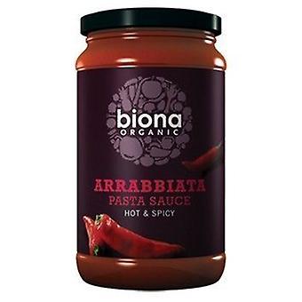 Biona Organic Arrabbiata sauce pâtes chaudes et épicées (végétalien) 350g x6