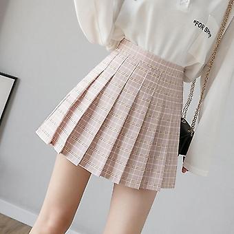 Kesä Naiset Hame Preppy Style Ruudullinen Laskos Söpö Japanilainen Koulu Naiset Mini