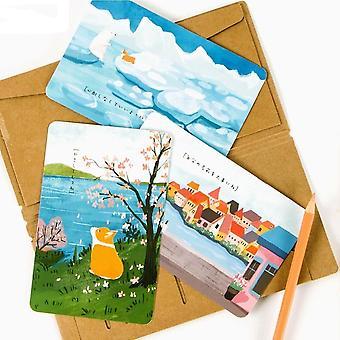 Cute Creative Cartoon Corgi Postcard/wish Card/greeting Card