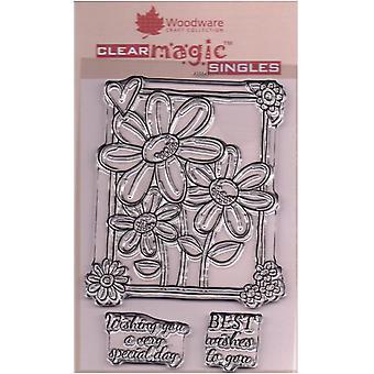Woodware Clear Singles Tres en una caja 4 en x 6 en sello