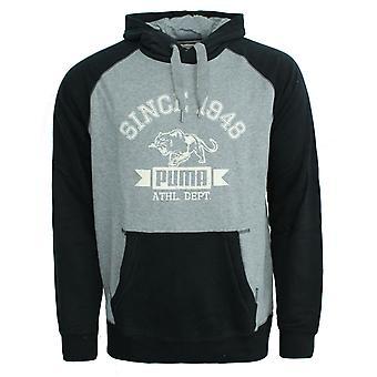 Puma Mens Athletic Herren Hooded Sweat Black Grey Hoody Pullover 832252 01 A18D