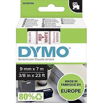 Etikettering tape DYMO D1 40915 Tape kleur: wit lettertype kleur: rood 9 mm 7 m
