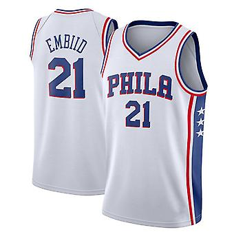 Philadelphia 76ers No.21 Embiid Loose Basketball Jersey Sport shirts 3QY007