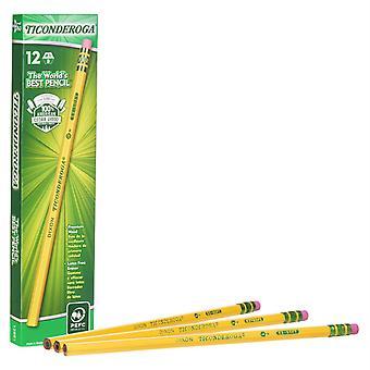 Original Ticonderoga Pencils, No. 1 Extra Soft Yellow, Unsharpened, Box Of 12