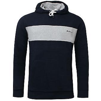Ben Sherman Herre Panel Hoodie Sweatshirt Jumper Navy 0060889 NVY