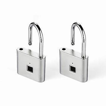 Usb Rechargeable- Keyless Fingerprint Padlock, Smart Door Lock