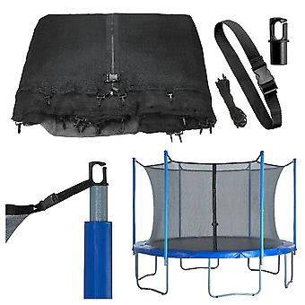 Replacement Protective Enclosure Safety Net for Trampoline with Multiple Poles