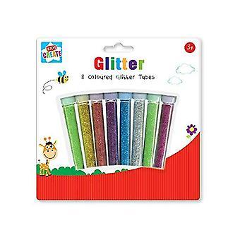Anker børn skaber/kunsthåndværk glitterrør, plast, diverse farver, 29,7 x 21 x 2 cm, pakke med
