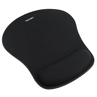 Tecknet mouse mat with memory foam rest -non-slip rubber base- special-textured water-resistant surf
