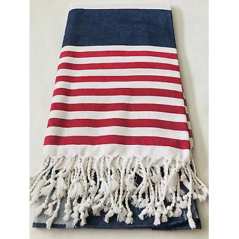 Red, White And Blue Smart Towel- 100% Natural Cotton