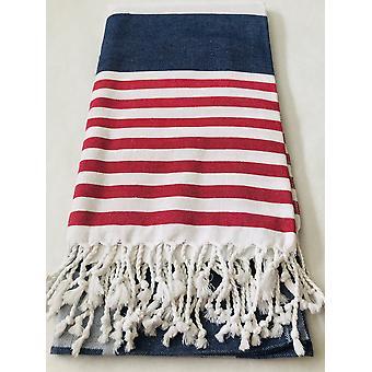 Rot, weiß und blau Smart Handtuch - 100 % natürliche Baumwolle