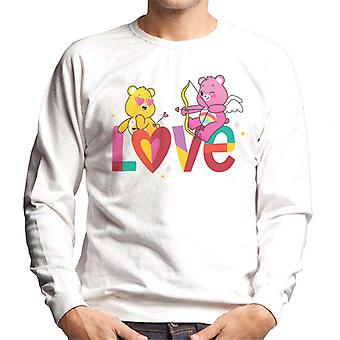 Care Bears låse opp den magiske Valentines Kjærlighet Piler Menn's Sweatshirt