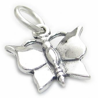 Butterfly Sterling Silver Charm .925 X 1 Butterflies Butterflys Charms - 3556