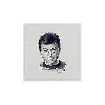 Robert Tomlin Star Trek Dr Mccoy Portrait  12 X 12cm Print By Robert Tomlin