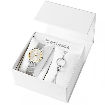 Zegarki damskie Pierre Lannier MULTIPLES Quartz Silver 350H728 - Srebrna bransoleta stalowa