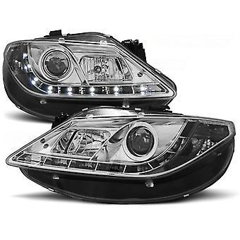 Headlights with parking light SEAT IBIZA 6J 06 08-12 CHROME