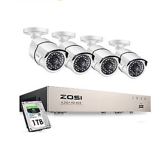 5mp بو الأمن كاميرا نظام كيت HD كاميرا IP للماء الدوائر التلفزيونية المغلقة مجموعة