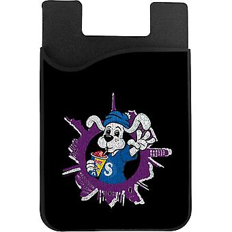 Slush Puppie Distressed World Background Phone Card Holder