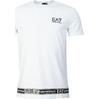 Ea7 רכבת לוגו סדרה קלטת חולצת טריקו