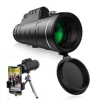 IPRee 40X60 טלסקופ עדשה HD אופטי מונוקולרי + חצובה + קליפ טלפון נייד