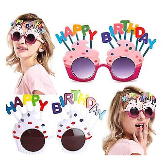 Happy Birthday Party Sunglasses,party Favors,sweet Cream Cake Glasses Props 2 Pack