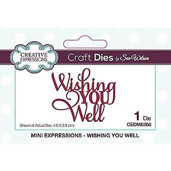 Expressões Criativas Mini Expressões Cortando Morre - Desejando-lhe bem