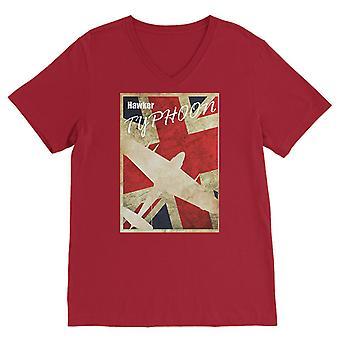 Hawker typhoon vintage ww2 premium v-neck t-shirt
