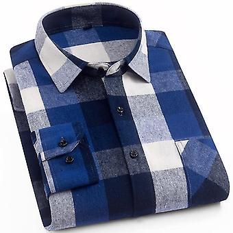 Pitkähihainen Slim-fit Checkered-paita