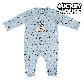 Baby's long-sleeved romper suit mickey mouse sky blue
