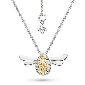 "Kit Heath Blossom Flyte Honey Bee Gold Rhodium 18"" Necklace 90338GRP"