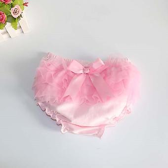 Bebek Bloomers, Prenses Yaz Kısa Pantolon, Ruffle Mesh Yay Bebek Külot