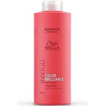 Wella Invigo Brilliance Shampooing Fin Cheveux 1000 ml