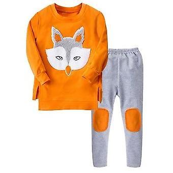 Girls Sport Suit, Teenage Autumn Clothes Set, Long Sleeve Top & Pants